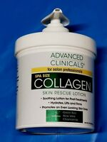 Advanced Clinicals Collagen Spa Size 16 oz Skin Rescue for Salon Pros