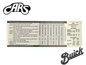 1971 Buick Tire Pressure Decal | New | GS Skylark Riviera LeSabre Electra