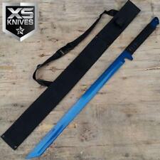 "27"" Blue Tactical Machete Full Tang Blade Katana Ninja Sword w/Sheath Japanese"
