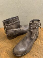 Bed Stu Craven Black Driftwood Distressed Leather Ankle Boots Womens Size 9
