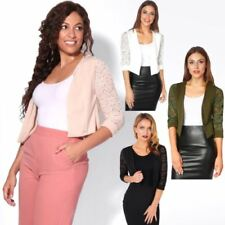 3/4 Sleeve Cropped Petite Jumpers & Cardigans for Women
