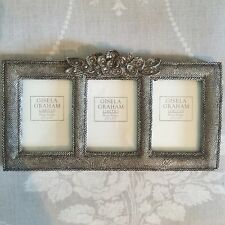 Floral Trio Picture Frame, Photo Frame, Gisela Graham Shabby Chic, Flowers