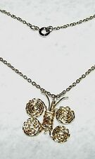 UNIQUE HAND CRAFTED WIRE ART BUTTERFLY PENDANT WITH 19 INCH GOLD FILLED CHAIN