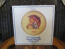 Hummel Goebel Umbrella Girl 1982 Bas Relief 12th Annual Plate 275 TMK-6 MIB