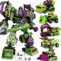 NBK TF Engineering Devastator GT 6in1 Transformers Autobot Robot Oversize Figure