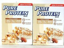 2 Packages Pure Protein 10.58 Oz Vanilla Almond GF 20g Protein 6 Count Bar