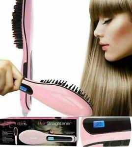 Fast Heated Electric Straight Hair Comb Beard Straightener Brush Style Men Women