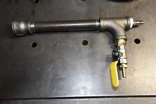 Gas propane burner for blacksmiths forge, furnace. Large. Air compressor fed.