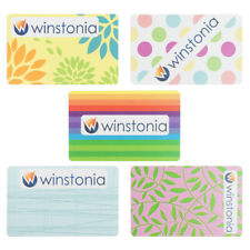 Winstonia Nail Art Stamping Scraper Cards Set of 5 Reusable Thick Manicure Kit