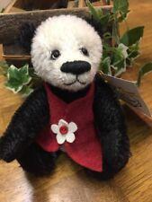"""NEW Beautiful Handmade Artist Bear by Sharon Queen- 6"""" Mohair  """"Me Too Panda"""""""