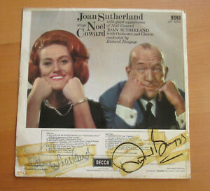 LXT 6255 Joan Sutherland SIGNED AUTOGRAPHED Sings Noel Coward Decca Mono LP