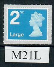2nd Class Large Machin definitive M21L  ex counter sheets  (backing paper  L/S)
