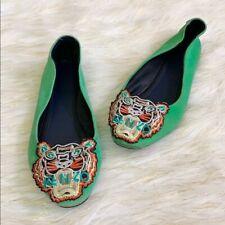 Kenzo Green Flat Shoes