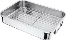 Judge 36x26cm Stainless Steel Roasting Pan Baking Tray Dish Tin With Rack