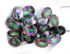 Two 10x8 10mm x 8mm Oval Rainbow AB Mystic Quartz Gemstone Gem Stone EBS7418
