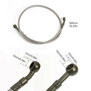 90cm/35.43in Motorcycle Braided Steel Brake Clutch Oil Hose Line Pipe Universal