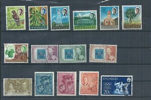 Seychelles stamps.  Small used lot. The 1961 post Office Centenary,  (P833)