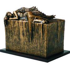 unico di design Urna ANGELO A RIPOSO cremazione FUNERALE per adulto -HANDMADE