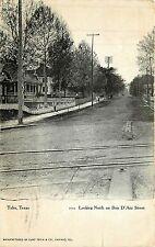 Texas, TX, Tyler, Looking North on Bois D'Arc Street 1907 Postcard