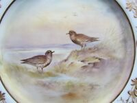 "ROYAL DOULTON SIGNED HART 9½"" HP BIRDS DISPLAY PLATE SANDERLING(Ref3488)"