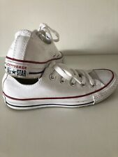 Junior CONVERSE All Star White Canvas Low Tops Size 4 Worn, Literally 4 Times!