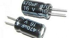 Capacitor 470uF 16 Volt 12.5 x 10mm Radial ECR16V470UF5mm Electrolytic PCB x5pcs