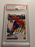 1991 UPPER DECK JOHN LECLAIR Rookie Card PSA/DNA authenticated Auto Flyers Mint