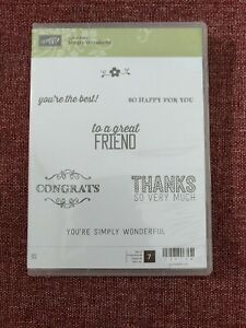 Stampin Up Simply Wonderful | S