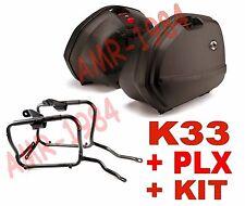 KIT VALIGIE K33 NERE + TELAIO + 1104KIT HONDA CROSSRUNNER K33N + PLX1104 + KIT