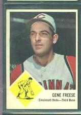 1963 FLEER # 33 GENE FREESE REDS EX-