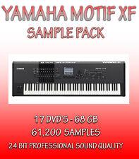 YAMAHA MOTIF XF SAMPLES, NATIVE INSTRUMENTS, KONTAKT NKI + WAV FORMATS- 17 DVD'S