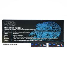 CUSTOM sticker for LEGO 10179 Millennium Falcon Star Wars