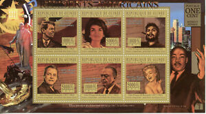 Guinea US Presidents Stamps 2011 MNH JFK John F Kennedy Marilyn Monroe 6v M/S