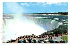 Niagara Falls Ontario Canada Postcard Horseshoe Falls Cars Spectators Vintage