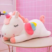 Plush Toy Pillow Doll Unicorn Shape Design Rainbow Cute Addorable for Kids Girls