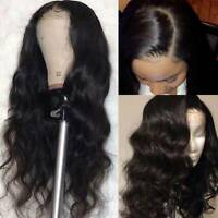 Pre Plucked Wavy Silk Top Full Lace Front Wigs Brazilian Virgin Human Hair Wig @