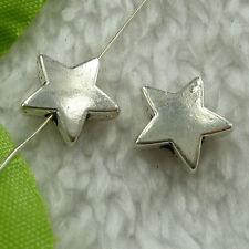 free ship 260 pcs tibet silver star spacer beads 11mm #2643