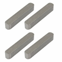36mmx6mmx6mm 304 Stainless Steel Key Stock Keystock Round Ended 4pcs