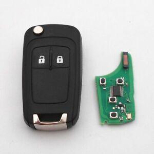 Vauxhall Corsa E Astra J Zafira C Adam Mokka 2 Button Remote Key 433Mhz id46