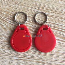 5PCS Red RFID Sensor Proximity Card IC Key Tags Keyfobs Keychain 13.56MHz