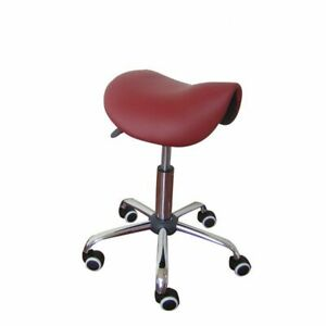 Massage Swivel Chair Saddle Stools Leather Upholstery Portable Spa Beauty Chairs