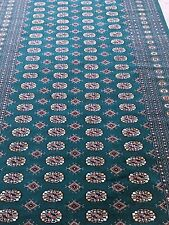 6x9 Hand knotted oriental Rug  Bokhara Emerald Green100% Lambs Wool/Cotton Base.
