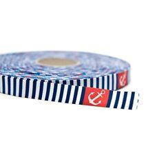 1 m Webband maritim blau weiß 15 mm Anker