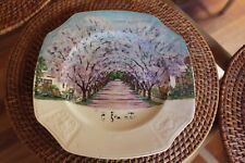 AUSTRALIAN LANDSCAPE PAINTING GRAFTON NSW ON PLATE J AND G MEAKIN ENGLAND