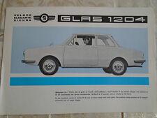 Glas 1204 brochure 1960's Italian text
