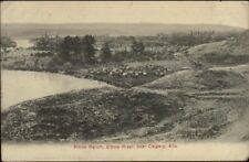 Horse Ranch Elbow River Near Calgary AB c1910 Postcard jrf
