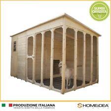 Casetta/cuccia recinto per cani in legno massello 371 x 212 cm