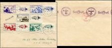GE206. GERMAN FRENCH VOLUNTEER LEGION FELDPOST COVER 1944 STAMPS W/ LABELS DATES