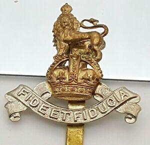 WW1 Fide Et Fiducia Regiment British Army Cap Badge