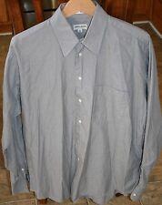 Giorgio Armani Le Collezioni Gray 2 ply 100's 100% Cotton Dress Shirt 15.5 34/35